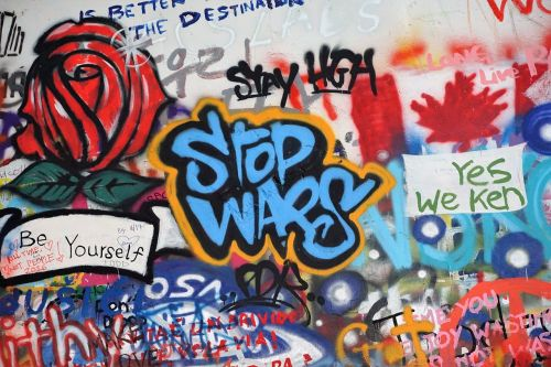 anti-war grafitti john lennon wall