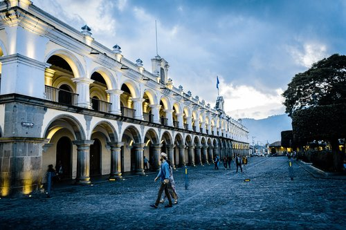 antigua guatemala  colonial city  guatemala