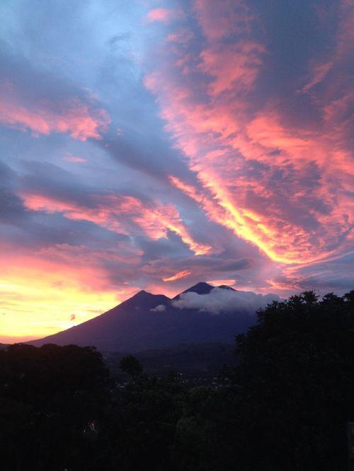 antigua guatemala guatemala sunset