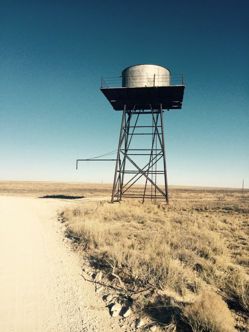 antique water tower
