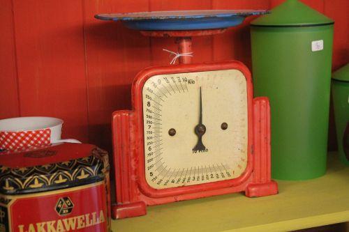 antique horizontal kitchen scale