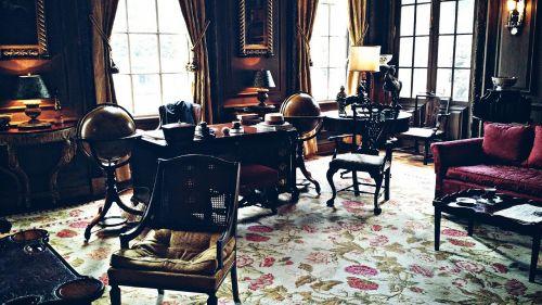 antique dark desk