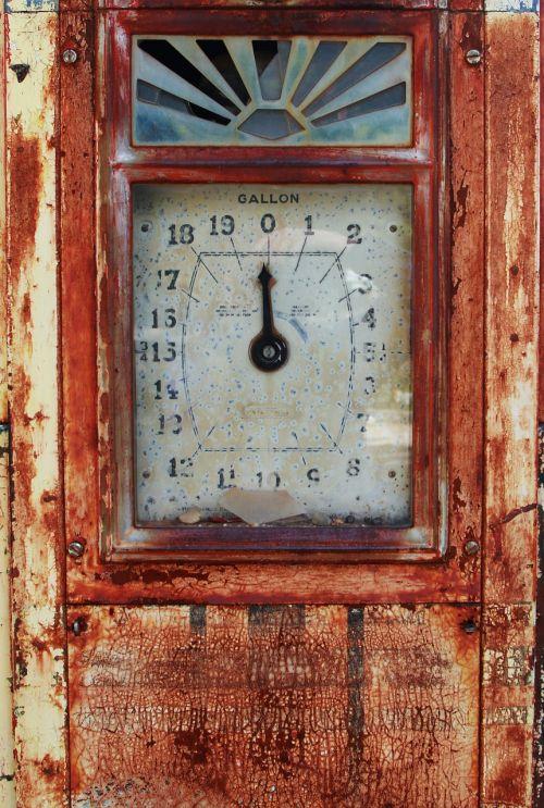 antique clock fuel pump