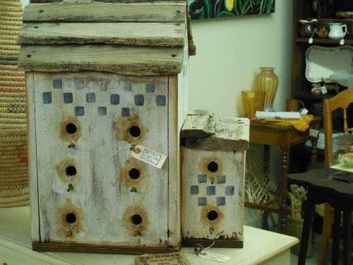 antique bird house bird