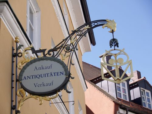 antique art sign store