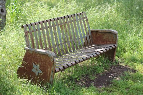 antique bench bench park bench
