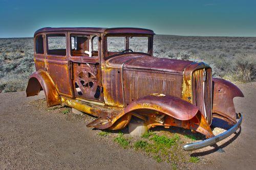 antique car american car nature
