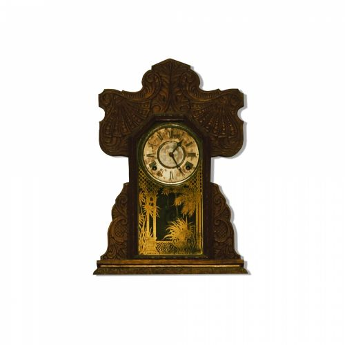 Antique Clock Isolated