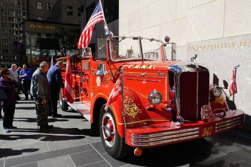antique fire truck american fire truck firefighter oldtimer