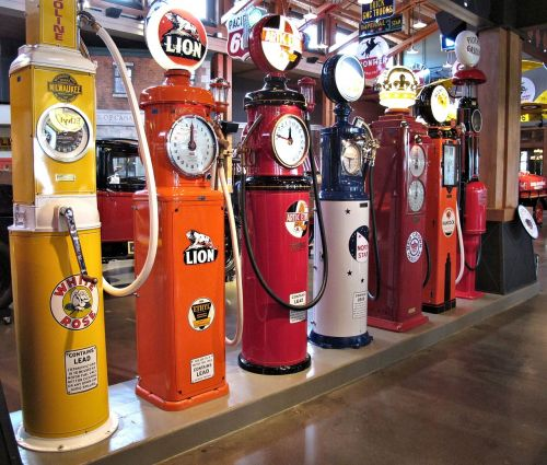 antique gasoline pumps restored museum