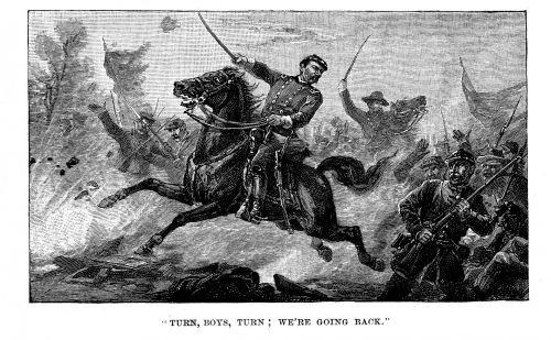 Antique Image - Civil War Battle