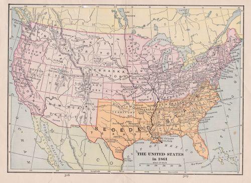 Antique Image - Civil War Map