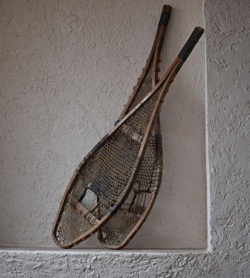 antique snowshoes snowshoes antique