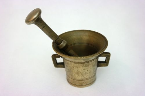 mortar bronze antiques