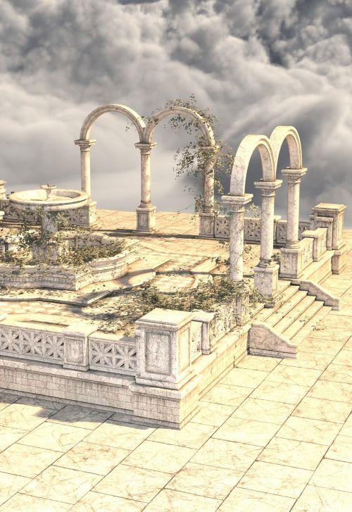 antiquity portikus columnar