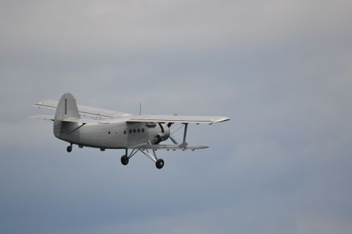 antonov double decker propeller plane