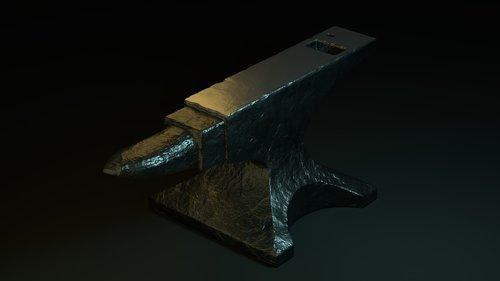 anvil  3d  metal