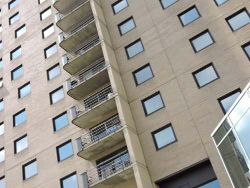 apartment building city