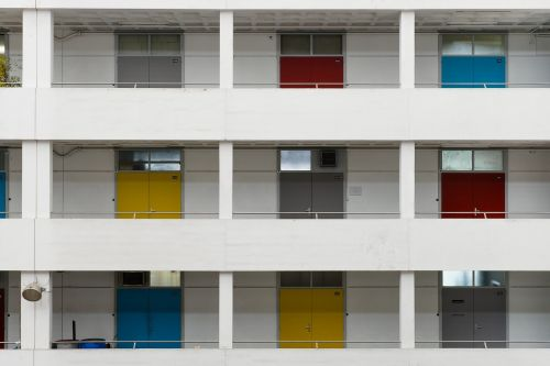 apartment building balconies architecture