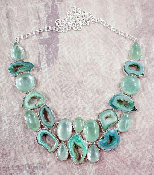 apatite stone necklace