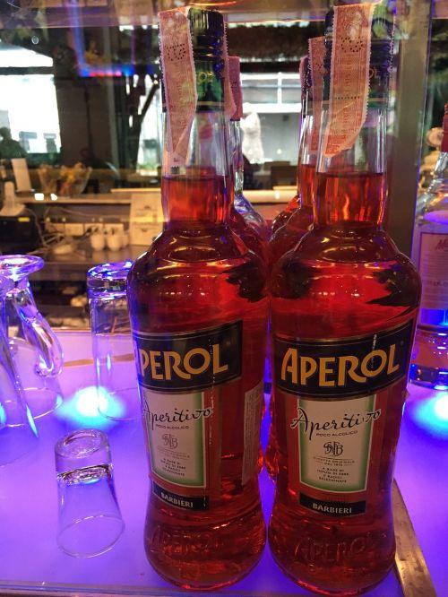 aperol bottles beverages