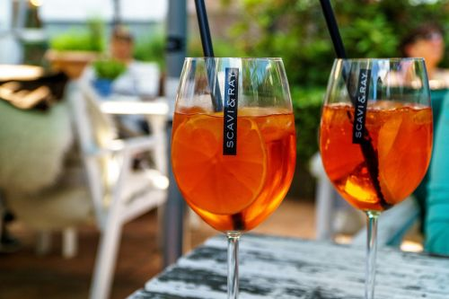 aperol spritz orange glass