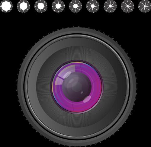 aperture dazzle row lens