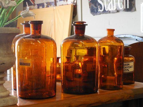 apothecary bottles medicine