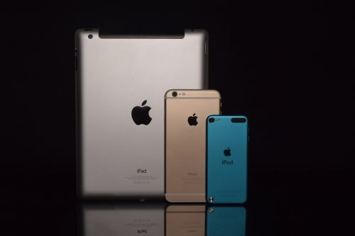 apple products photography