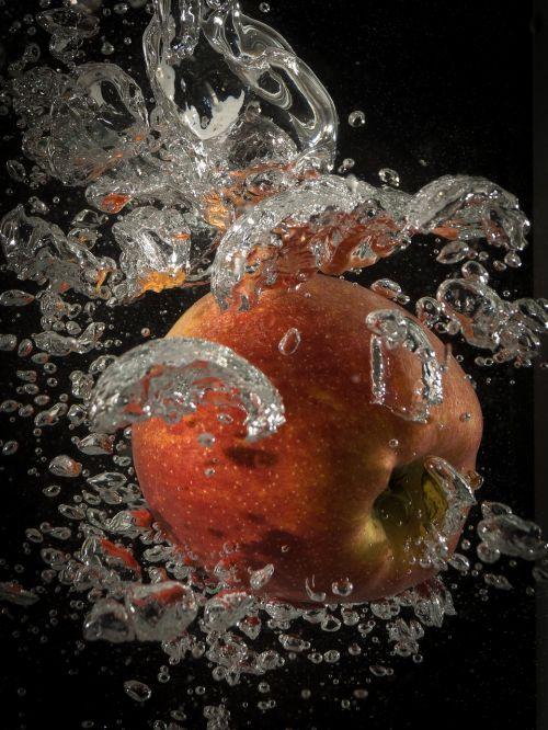 obuolys,vanduo,purslų,švirkšti