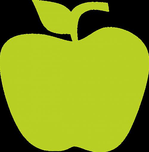 obuolys,vaisiai,obuoliai,žalias obuolys,žalias,padėklų medienos plaušiena,žalias maistas,nemokama vektorinė grafika