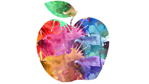 apple  stylized apple  fruit