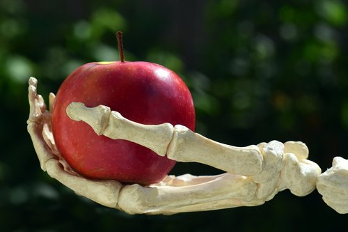 apple  hand  bone