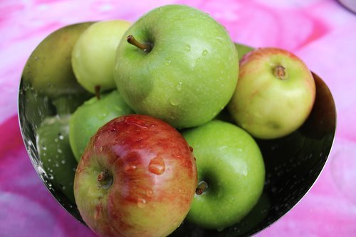 apple  fruit  bowl