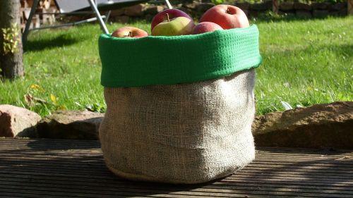 apple bag apple autumn