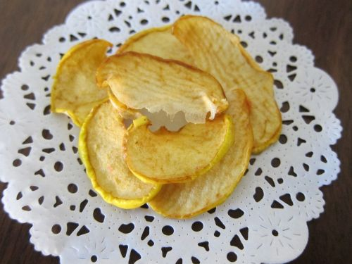 apple chips dehydrated fruit raw food