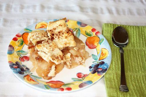 Apple Cobbler On Plate