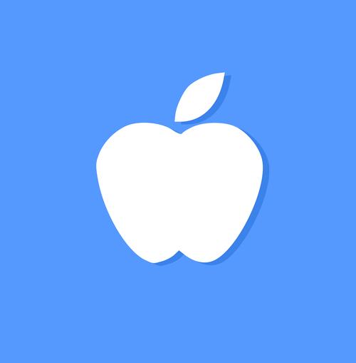 apple icon  icon  blue
