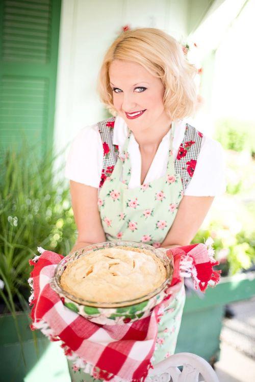 apple pie woman holding pie fall
