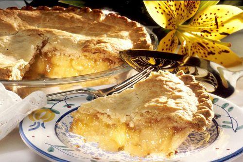 apple pie slice plate