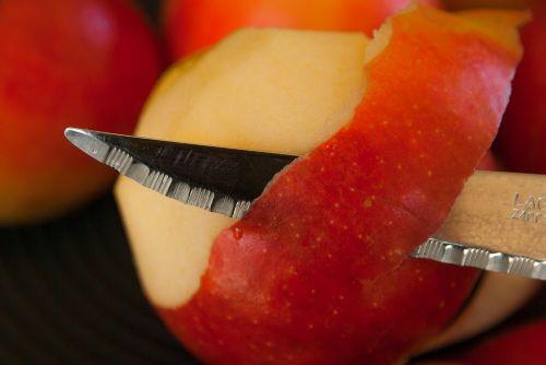 apples knife fruit