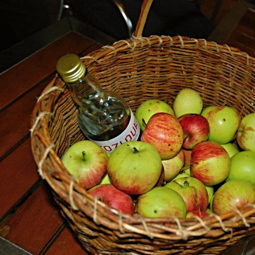 apples basket plum brandy