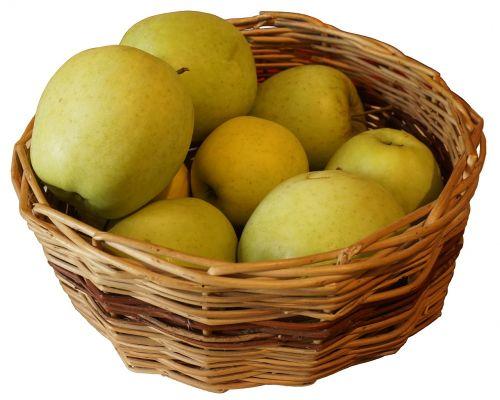 apples cart apples košik