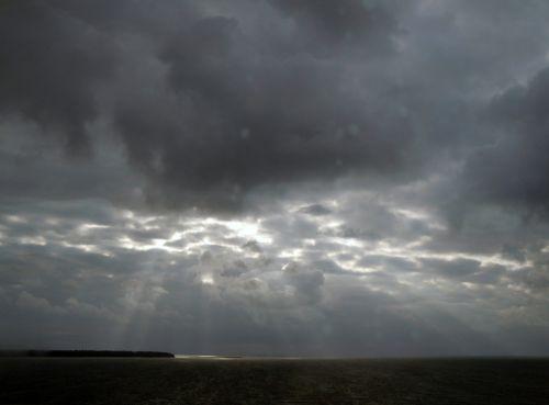 april weather clouds sunbeam