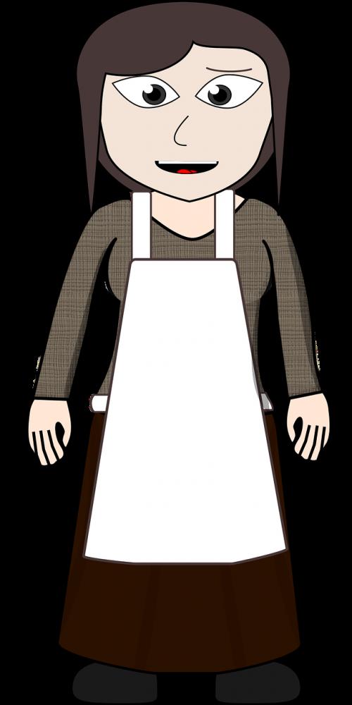 apron comic characters dress-up head
