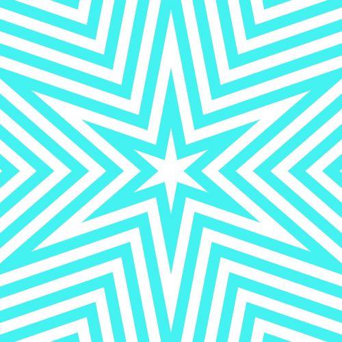 aqua turquoise geometric