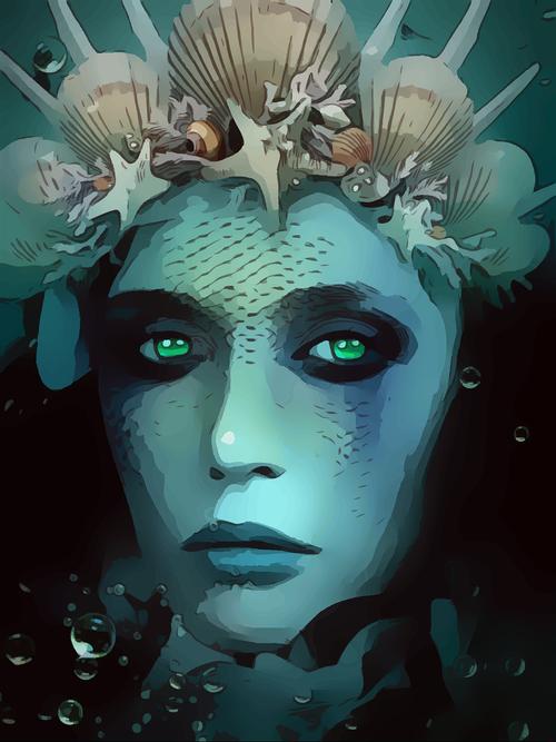 aqua  woman  mermaid