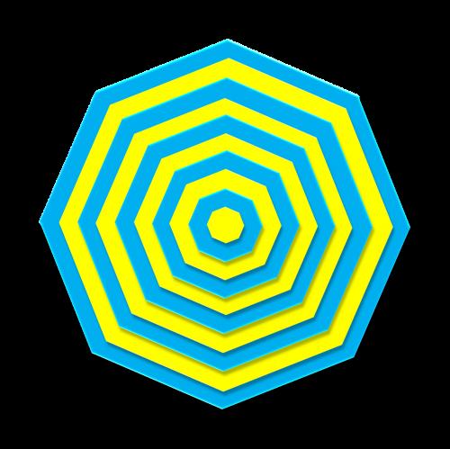 aqua yellow 3d