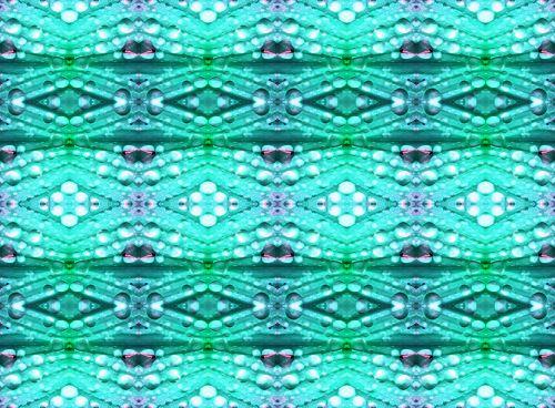 Aqua Bubble Pattern