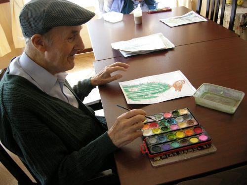 aquarelle old man people
